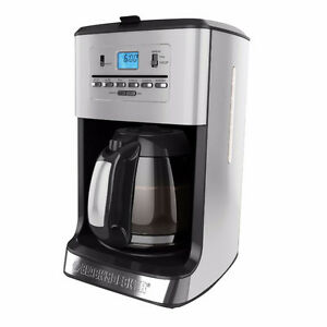 Black & Decker CM3005SC 12-Cup Tea and Coffeemaker, Silver NEW