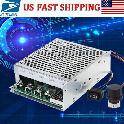 Dc 10-55v 100a Motor Speed Controller Reversible Pwm Control Forwardreverse New
