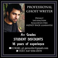 Professional Ghost Writer~Quality Essays & Papers - CHEAP RATES