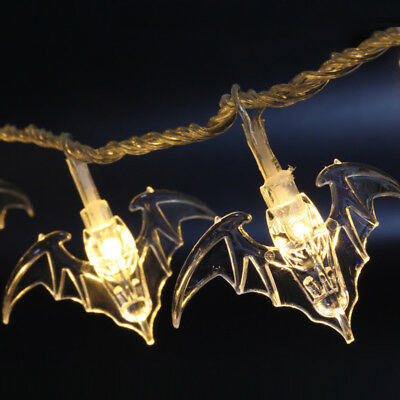 AA Battery Bat String Lights Halloween Masquerade Night Party Decor LED Lamp