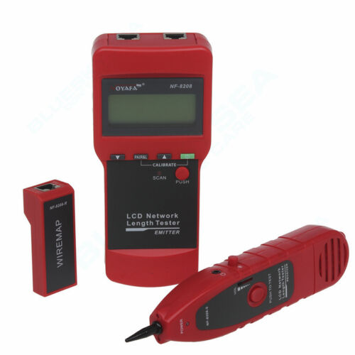 Network Cable Locator : Nf network cable length tester and lcd fault locator