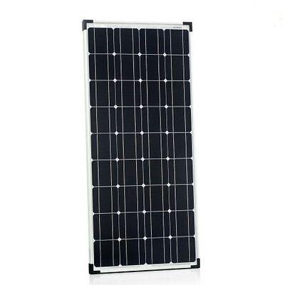 Hochwertiges Mono 100Watt 12V Solarmodul Solarpanel 100W für Garten Wohnmobil