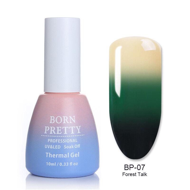 43colors Born Pretty Thermal Gel Nail Polish Color-Changing Soak Off Gel Varnish