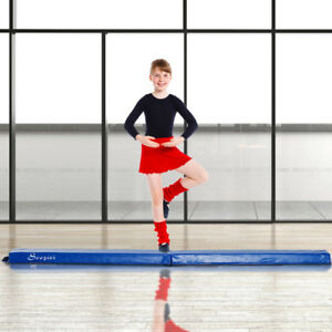 8FT Folding Floor Balance Beam Foam Gymnastic Training Low Heigh