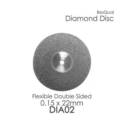 Dental Lab Diamond Disc 2 22mm X 0.15mm 3-piece For Porcelain