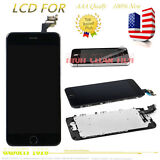 For iPhone 6 Plus 5.5'' Black LCD Touch Screen Digitizer With Home Button Camera