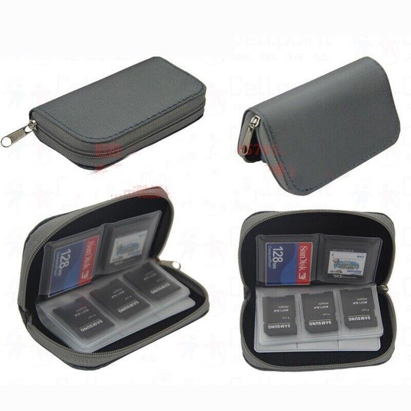 Memory Card Storage Wallet Case SD SDHC MMC CF Bag Holder Micro Mini 22 Slots