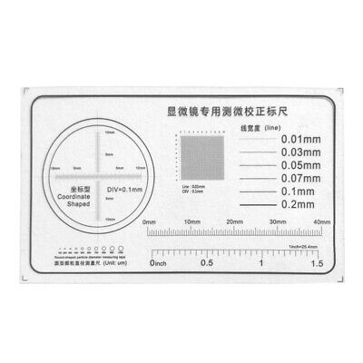 Microscope Micrometer Calibration Ruler Transparent Film Round-shaped Particle