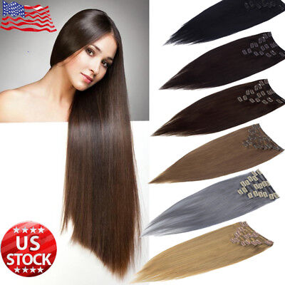 Best Selling Clip In Remy Thick Human Hair Extensions Full Head 10~22 inches (Best Human Hair Clip In Extensions)