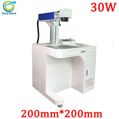 Fiber Laser Marking Machine 30w 200x200mm Metal Engraving With Rotary Axis