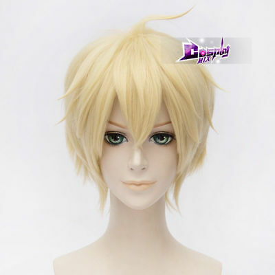 Anime Fashion Dairy Costume Blonde 30 CM Short Cosplay Wig Heat Resistant