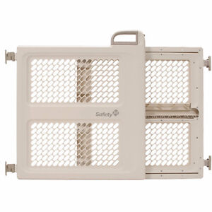 Safety 1st LIFT, LOCK & SWING DUAL-MODE BABY GATE - TAUPE