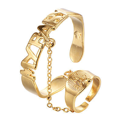 Infant kids children bracelet Ring Set gold filled Adjustable Cuff