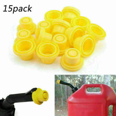15 Pack Replacement Yellow Spout Cap Top For Fuel Gas Can Blitz 900302 900094 Td