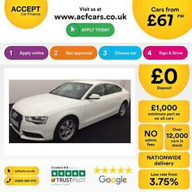 Audi A5 2.0TDI ( 177ps ) quattro Sportback 2012MY FROM £67 PER WEEK !