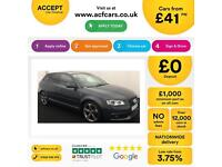 Grey AUDI A3 SPORTBACK 1.8 2.0 TFSI Petrol SPORT BLACK EDITION FROM £41 PER WEEK