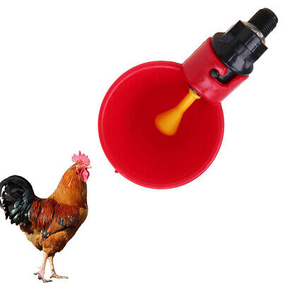 10pcs Poultry Chicken Duck Feeder Automatic Water Drinking Cup Bowl Drinker Kit