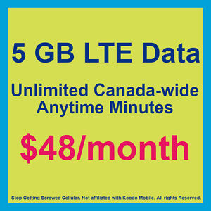 Stop Getting Screwed! 5 GB Cell Phone Plans for $48/Month