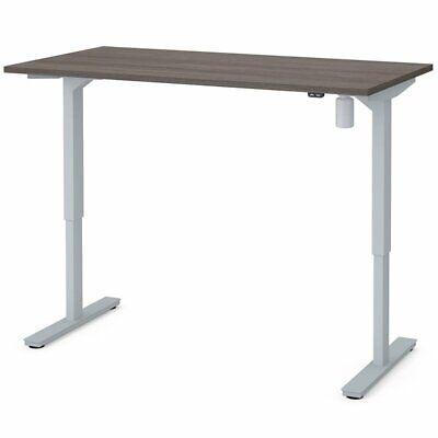 Bestar 60 Electric Adjustable Standing Desk In Bark Gray