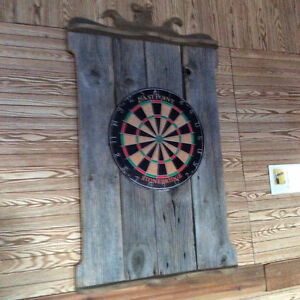 Dart Board Back Ground  from Reclaimed Wood  NO TAX
