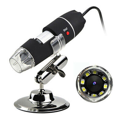 1000x Zoom 1080p Usb Microscope Digital Magnifier Endoscope Video Camera 8 Led
