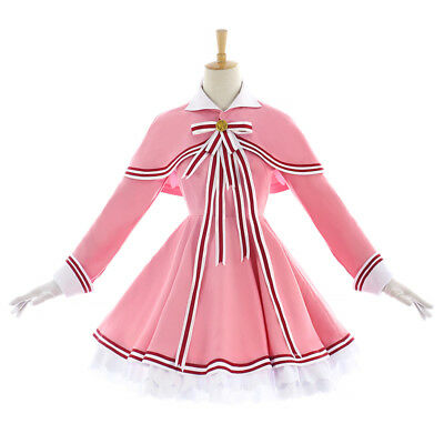Kostüm Cosplay Cardcaptor Sakura (Card-captor Sakura KINOMOTO Kleid Cosplay Kostüm Costume new cover clear card )