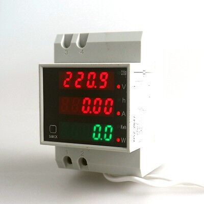 Multifunction Din Rail Digital Led Panel Meter Ac Voltmeter Ammeter Wattmeter