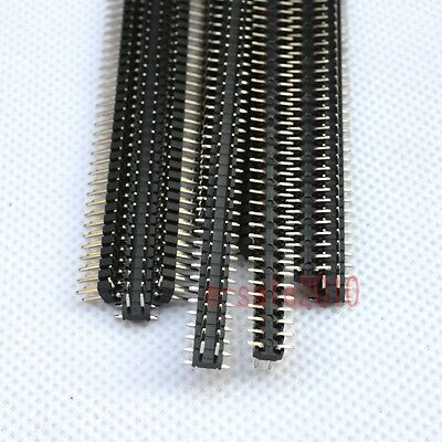 10pcs Rohs 2x40 2.0mm Pin Header Double Row Smtsmd Male For Dip Pcb Board G34
