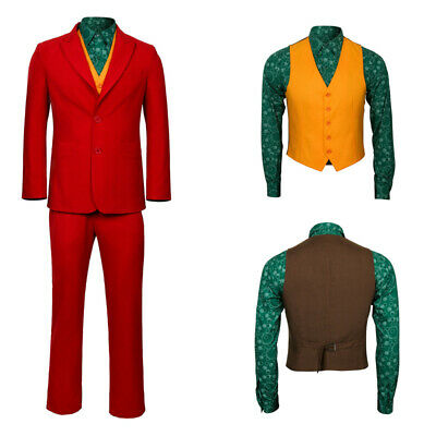 The Joker Origin Arthur Fleck Cosplay Costume Men's Halloween Outfit Full Set - The Joker Halloween Outfit