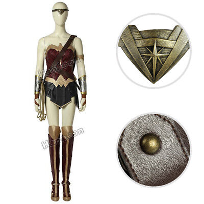 Wonder Woman Diana Prince Cosplay Costume Halloween Party Women Outfit Full Set - Wonder Woman Halloween Costume For Women