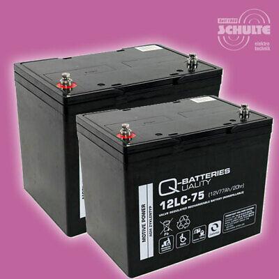 Akkus Batterien für Scooter Seniorenmobil E-Mobil L46, 2 x 12V 75Ah Blei AGM