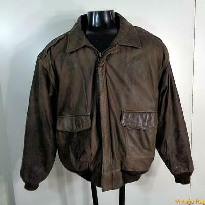 Top Gun Jacket (SEA DREAM  Vintage Aviator Leather FLIGHT Bomber JACKET Mens Size XL 48)