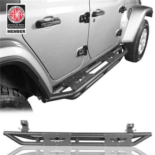 Black Steel Side Step Nerf Bars Running Board For Jeep