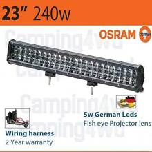 23inch 240W OSRAM Flood Spot Offroad Driving 4WD Truck LED Light Craigie Joondalup Area Preview