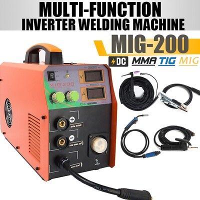 220v 3in1 Welding Machine 200amp Inverter Multi-process Tig Mmaarc Mig Welder