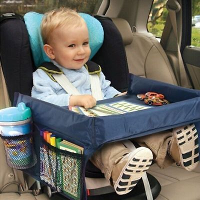 Baby Snack Tray - Baby Kids Safety Waterproof Snack Car Seat Table Play Travel Tray Drawing Board