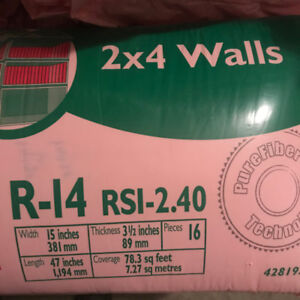R-14 Pink Insulation for 2x4 walls