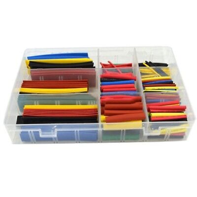 328pcs 21 Polyolefin Heat Shrink Tubing Tube Sleeve Wrap Wire Assortment 8 Size