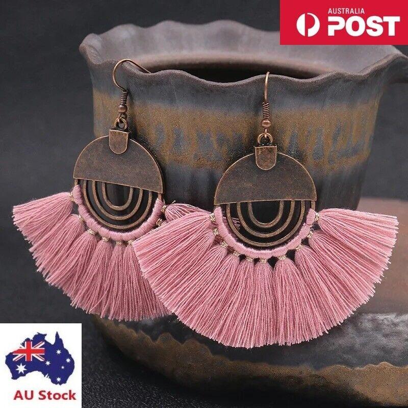 Jewellery - Bohemian Jewelry Vintage Fashion Hollow Round Women Boho Tassel Earrings