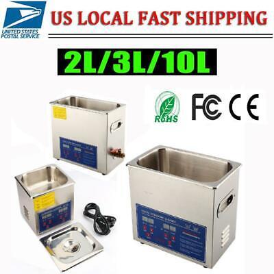 Digital Stainless Steel Dental Medical 2-10 Liter Ultrasonic Cleaner Heater Tank