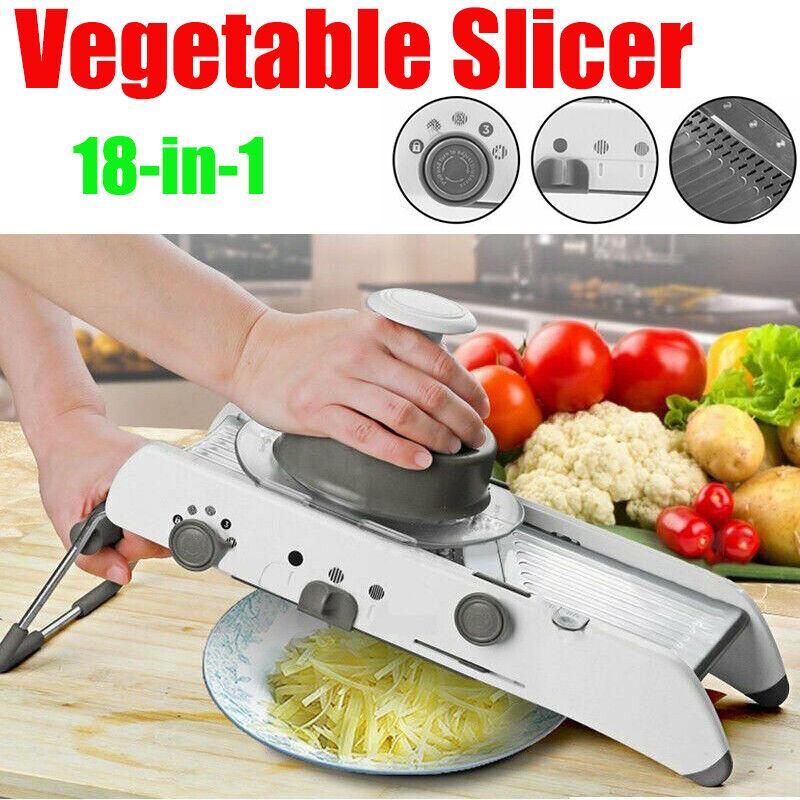 18 in 1 Mandoline Kitchen Fruit Vegetable Slicer Food Cutter