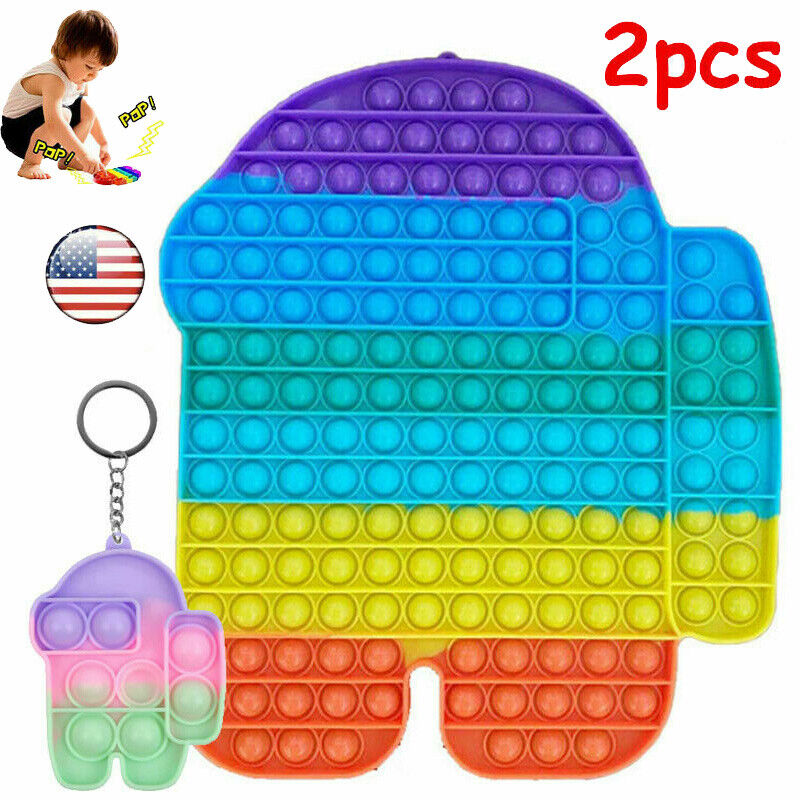 30cm ADHD Stress Relief Autism Jumbo Popit Sensory Fidget Bubble Toy Game Kids