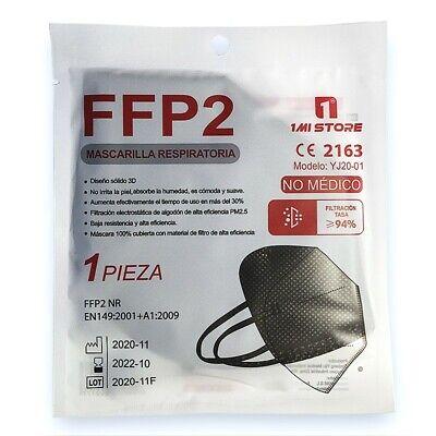 20x 1MI STORE Schutzmaske FFP2 Maske Atemschutzmaske Maske in SCHWARZ