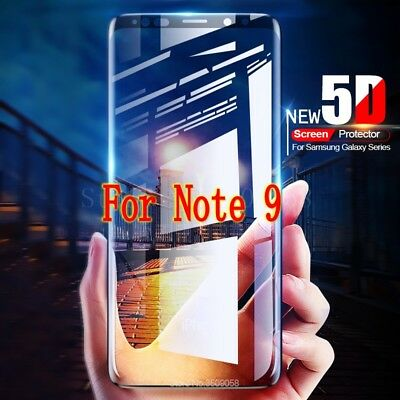 5D Curved Full Screen Protector For Samsung Galaxy Note 9 Best 9H Tempered