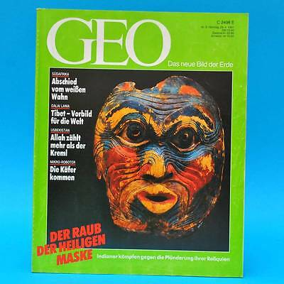 GEO Magazin 5/1991 Usbekistan Südafrika Mikro-Roboter Flugzeug-Oldtimer Tibet