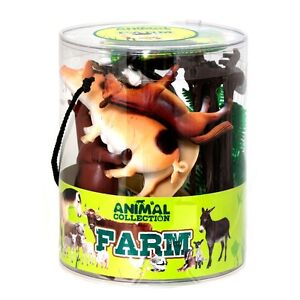 CHILDRENS TOY FARM ANIMALS SET COWS HORSES ETC ANIMAL SET