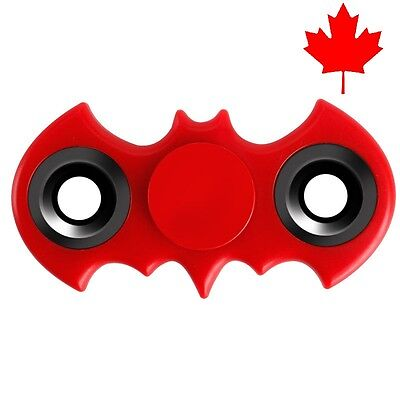 Batman Fidget Spinner EDC Stress Relief Focus Fun Bat Toy for Kids Adults -Red