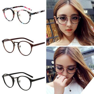 Damen Brillengestell Retro Runde Männer Frauen Unisex Nerd Brille Vintage