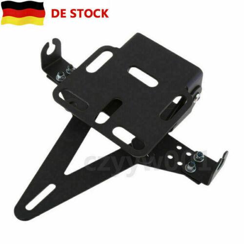 Qualität Schwarzer Universal Einstellbar Motorrad Kennzeichenhalter Lizenz DE