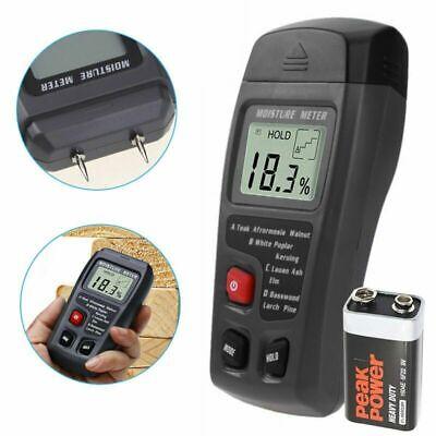 Digital Lcd Humidity Wood Moisture Meter Firewood Electrode Detector 0-99.9 Usa